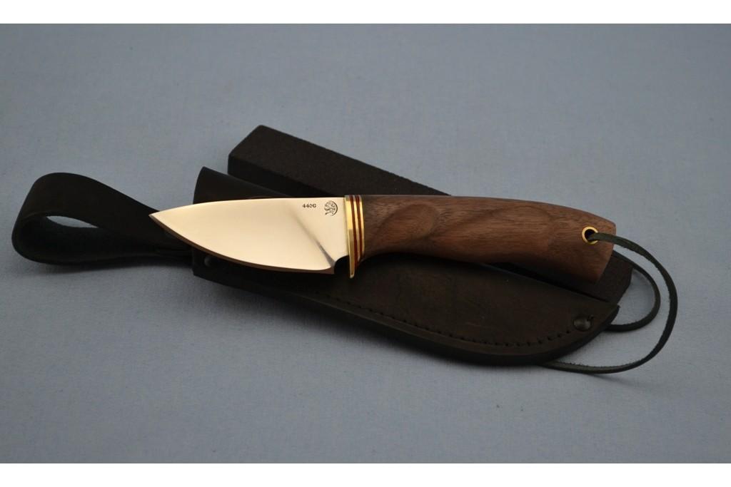 """Нож """"Ласка"""" (440C, корень ореха, резной)"""