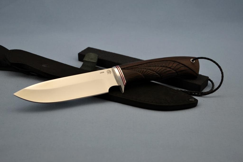 """Нож """"Ворон"""" (440C, венге, резной)"""