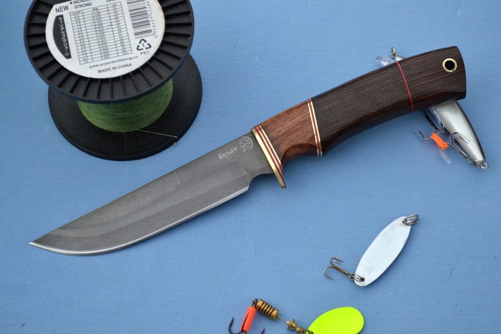 """Нож """"Турист"""" (Булат, бубинга, венге)"""