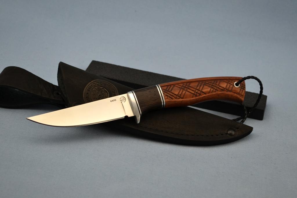 """Нож """"Грибник"""" (440C, венге, бубинга, резной)"""