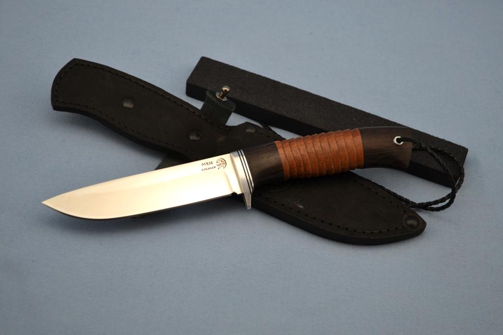 """Нож """"Лиса"""" (95Х18, венге, бубинга, резной)"""
