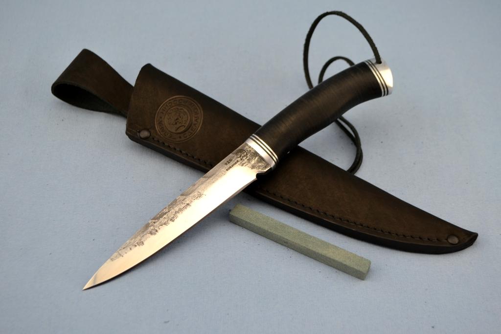 """Нож """"Хищник"""" (9ХС, дюраль, наборная кожа)"""