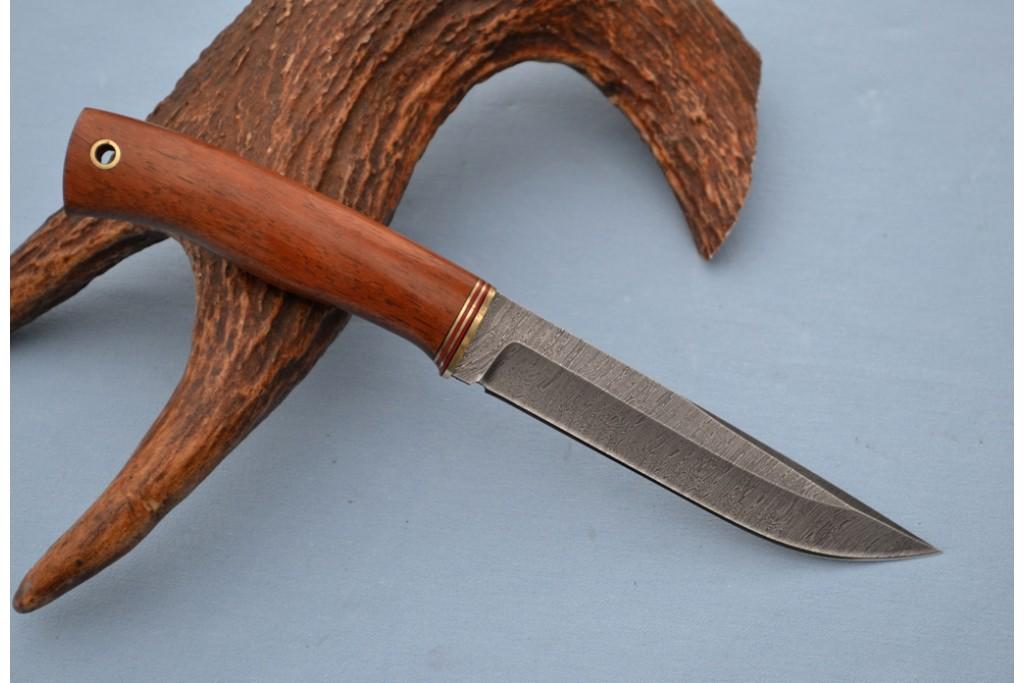 """Нож """"Волк"""" (Дамасская сталь, бубинга)"""