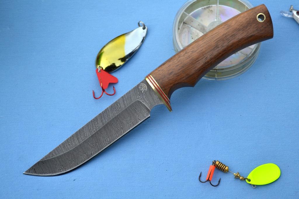 """Нож """"Турист"""" (Дамасская сталь, корень ореха)"""