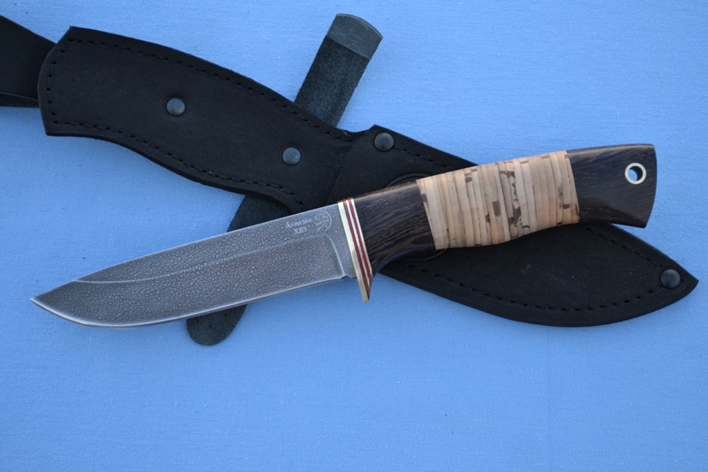 "Нож ""Лиса"" (ХВ5, венге, береста)"
